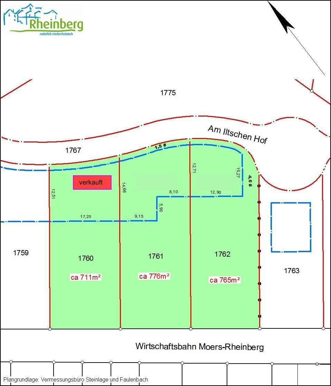 stadt rheinberg landfrauenstra e flurst cke 1760 1761 und 1762. Black Bedroom Furniture Sets. Home Design Ideas
