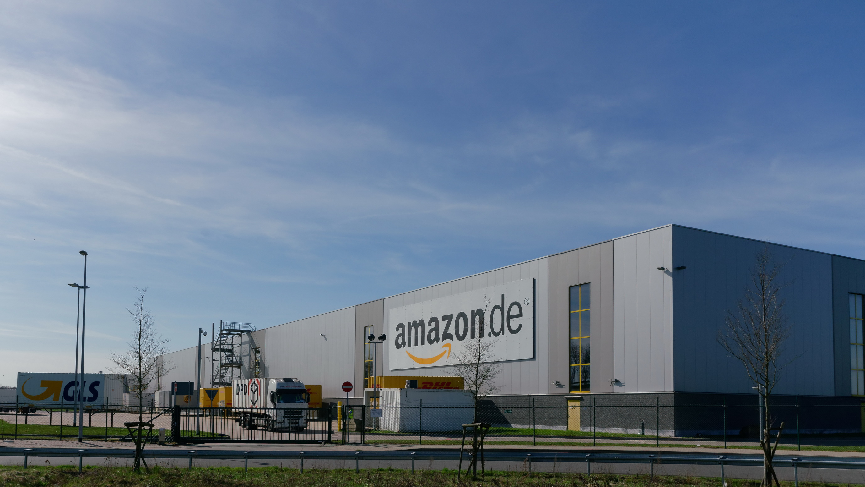 Ein Bild des Amazon Logistikzentrums