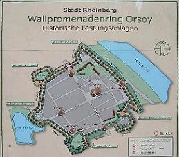 Eine Karte vom ehemaligen Wallpromenadenring in Orsoy